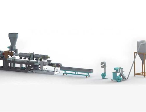 PE PP PS PA PC Recycling Strand Granulating Line