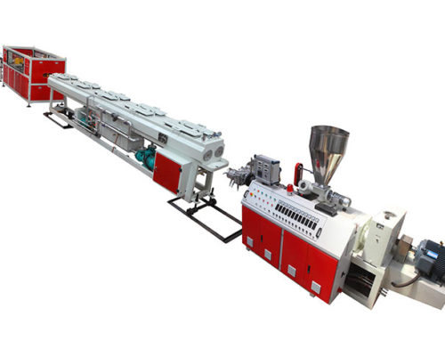 PVC Two Pipe Outlet Extrusion Line